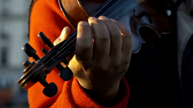 Violin in the city video