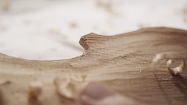 Violin Maker carving video