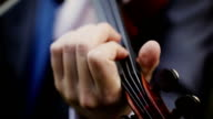 Violinist man playing the violin. Close up. video