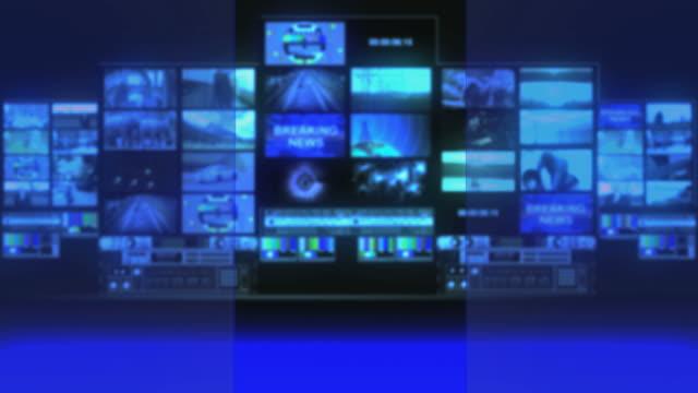 Virtual Broadcast Studio Background video