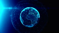 Virtual model of digital earth communications video