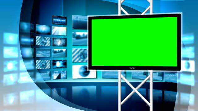Virtual News Studio 8 Loop - Right Monitor video