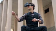 Virtual reality experience in the city video