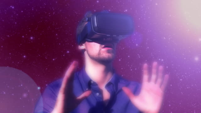 Virtual reality gamer. Version 3 video