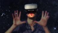 Virtual reality gamer. video