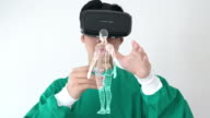 Virtual reality headset for healthcare practitioner video