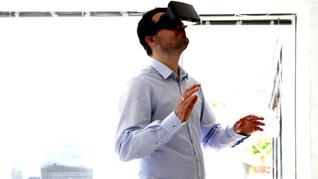 Virtual reality headset gives an immersive experience video