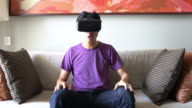 Virtual reality headset video