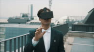 Virtual Reality in Industrial Environment (slow motion) video