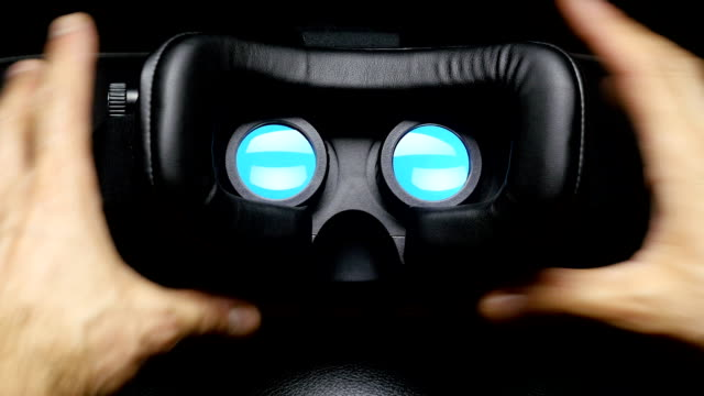 Virtual reality mask. video