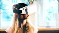 Virtual reality white headset video
