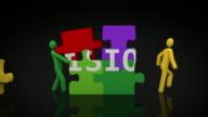 Vision Puzzle. Black Background. video