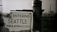 Visiting Seattle Washington On Driving Trip-1940 Vintage 8mm film video
