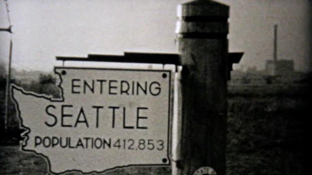 Visiting Seattle Washington On Driving Trip-1940 Vintage 8mm film video