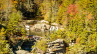 Visitors at Top of Linville Falls, NC during Autumn video
