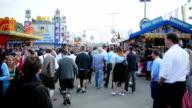 Visitors Walking Through Oktoberfest Fairgrounds video