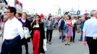 POV Visitors Walking Through Oktoberfest Fairgrounds video