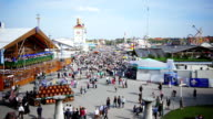 T/L Visitors Walking Through Oktoberfest Fairgrounds video