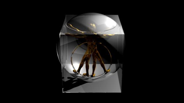 Vitruvian man. video