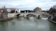 Vittorio Emanuele II Bridge Rome Italy video