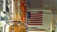 Vodka distillery video