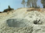 Volcanic Crater Spewing Mud video