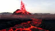 Volcanic Eruption. Lava video