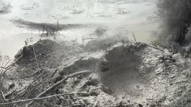 Volcanic hot mud video