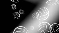 Volleyball Ball Drop Black White Seamless Looping Motion Graphic Video video