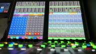 Volume controller on an audio mixer video