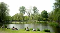 Vondelpark Amsterdam spring scene video