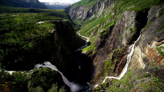 Voringfossen waterfall NORWAY video