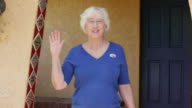 I Voted - Elderly Woman video