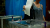 Voting at the polling station. video