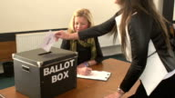 Voting in Ballot Box for the Election video