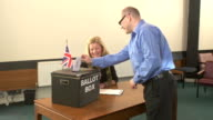 Voting in Ballot Box for the Election (Vote) video