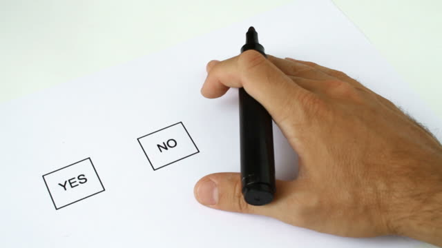 Voting Indecision Yes, No and Help video