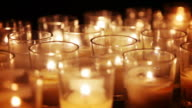 Votive Candles Macro Background video