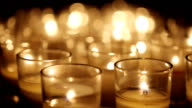 Votive Candles Macro Background video