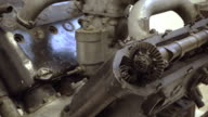 V-type engine gearing video