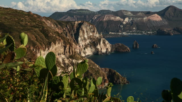 Vulcano, Volcano.  Island in the Aeolian Islands of Italy. 4k Timelapse. video