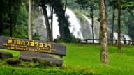 Wachirathan waterfall : waterfall in doi inthanon national park, Chiang mai,Thailand. video
