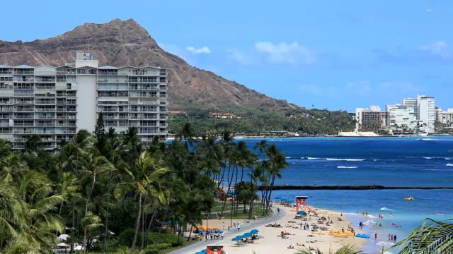 Waikiki Beach and Diamond Head video