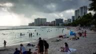Waikiki beach Honolulu Hawaii video