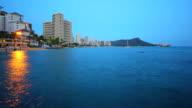 Waikiki beach time lapse video video
