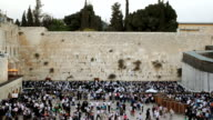 Wailing Wall in Jerusalem video