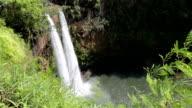 Wailua Falls, Kauai in Wailua River State Park, Hawaii video