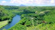 Wailua River in Kauai Hawaii video