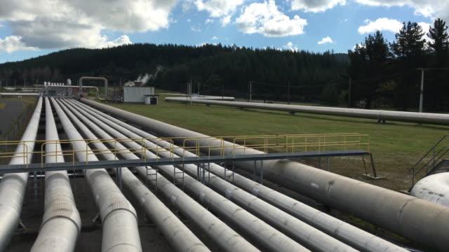Wairakei geothermal power station Taupo New Zealand video