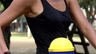 Waist Of Thin Woman Working Out video